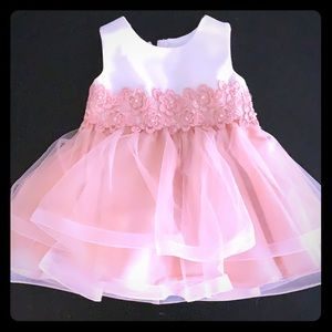 Gorgeous blush and ivory flower girl dress